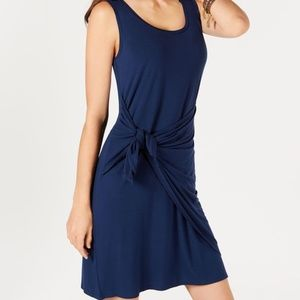 Style & Co Tie In The Front Sleeveless Dress